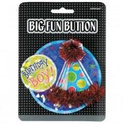 Merkloos Jongens verjaardag button groot