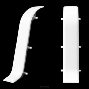 [neu.holz]® Conector para rodapiés PVC color blanco