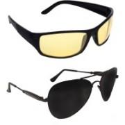 Criba Aviator, Sports Sunglasses(Black, Yellow)