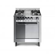Lofra M75mf 70x50 Cucina Con Piano In Acciaio Lucidato A Specchio - 4 Fuochi A Gas - Forno Multifunzione Elettrico Da 57 Lt, A