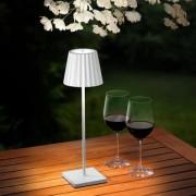 Sompex LED Outdoor Tischleuchte Troll, 10x38x10 cm, dimmbar, weiß