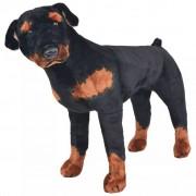 Sonata Плюшено детско куче ротвайлер за яздене, черно и кафяво, XXL