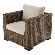 Maisons du Monde Wicker and sand fabric garden armchair Fidji