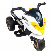 Moto Electrica Musical Infantil Montable LED 6V MSI 3-5 años Blanco