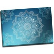 Tablou pe metal striat Grey and White Mandala