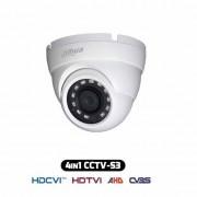 Dahua HAC-HDW1000R-S3 Telecamera dome HDCVI IBRIDA 4IN1 hd 720p 1Mpx 2.8MM osd