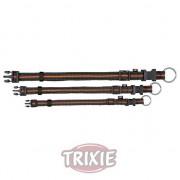 Trixie Collar Fusion, S-M, 30-45 cm,17 mm, Negro/Naranja