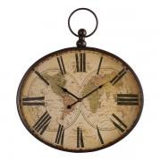 Oak Furnitureland Clocks - Columbus Wall Clock - Oak Furnitureland