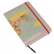 Reisdagboek - Notitieboek Vintage Wereldkaart | Dotcomgiftshop