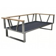 Zebra Belvedere Lounge 2-Sitzer, 2 Armlehnen Rahmen - ohne Polster