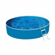 Lagoon Basic fémvázas kerek medence, 460x90 cm-es méretben, homokszűrővel, vastagított belső fóliával