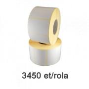 ZINTA 80x40 mm-es félig fényes címketekercsek, 3450 darab/tekercs