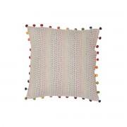 Miliboo Coussin en coton avec pompons multicolores 45 x 45 cm FILEA