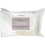 KORRES Natural Milk Proteins Cleansing Wipes (25 Wipes)