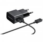Samsung Travel 2А Charger ETA-U90EBE - захранване с USB изход и MicroUSB кабел за Samsung мобилни устройства (черен) (ритейл опаковка)