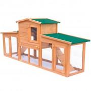 Sonata Външна голяма клетка за зайци/малки животни, с покриви, дървена