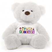 White 2 feet Fur Face Big Teddy Bear wearing a FRIENDS T-shirt