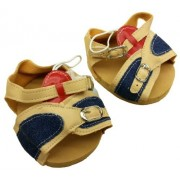 """Tan & Denim Sandals Teddy Bear Clothes Fits Most 14"""" 18"""" Build A Bear, Vermont Teddy Bears, And Make Your Own Stuffed Animals"""