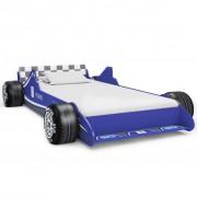 Sonata Детско легло състезателна кола, 90x200 cм, синьо