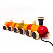 Eco Child Kids Wooden Train Push Pull Toy