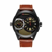 Ceas casual barbatesc Curren Quartz Chronograf Dual Time 8249, maro