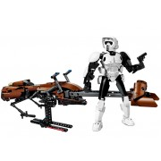75532 Scout Trooper si Speeder Bike