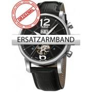 Curea de ceas Perigaum Leder P-1111 schwarz ohne Schliesse 24 mm