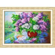 Паутинка Набор для вышивания бисером Сирень у окна