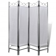 vidaXL 4-Panel Room Divider Privacy Folding Screen White 160 x 180 cm