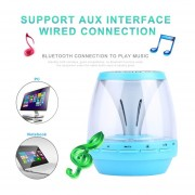 EB LED Altavoces Bluetooth Inalámbricos Soporte Manos Libres Tarjeta TF Lectura USB FM-azul