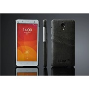 iLee Premium Leather Wallet Back Case Cover For Xiaomi MI4 (12 Month Warranty) Color : Grey