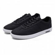 3302 Lino Casual Lace-Up Hombre Zapatos de lona - Negro (# 42)