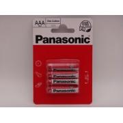 Panasonic AAA R3 baterii zinc carbon 1.5V blister 4