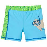Playshoes Kid`s UV-Schutz Shorts Robbe Pantaloncino da bagno (98/104, turchese/verde)