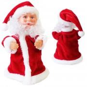 Танцуващ, въртящ се и пеещ Дядо Коледа - 30 см. - червен