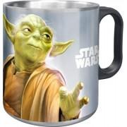 Rozsdamentes acél bögre Yoda