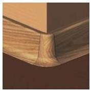 PBE605.157-S4 - Set 4 bucati piese colt exterior culoare stejar inchis pentru plinta PBC605