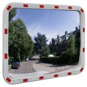 vidaXL Convex lustro drogowe prostokątne 60 x 80 cm z odblaskową ramą