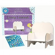 Spots and Ladybugs LLC Smalltown Flats Lovely Loveseat Doll Furniture Building Kit White