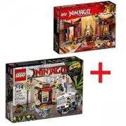Комплект ЛЕГО НИНДЖАГО - Преследване в НИНДЖАГО СИТИ 70607 + Схватка в тронната зала 70651, LEGO NINJAGO