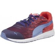 Puma Boy's FAAS 300 v4 Jr Astral Aura, Cayenne and Bleached Denim Mesh Sneakers - 4 UK