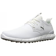 Puma Golf Men's Ignite Spikeless Pro Golf-Shoes, Puma White/Puma White/Silver, 11 M US