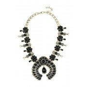 Eye Candy Los Angeles Brianna Statement Pendant Necklace BLACK