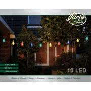 10 partylights 6 cm led multi 10m