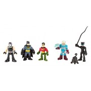 Imaginext Dc Super Friends - Batman Heroes & Villains Pack With Batman Robin Catwoman Mr. Freeze and Bane