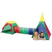 Cort de Joaca pentru Copii tip Iglu cu Tunel Multicolor