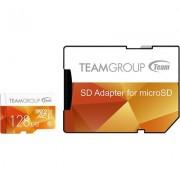 Карта памет Team Group Color microSDXC 128GB, UHS-I Class 10 + SD Адаптер