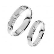 Zlatý snubní prsten Gems Line, 436-0161_0163 z bílého zlata