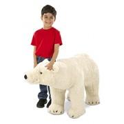 Melissa & Doug Giant Polar Bear - Lifelike Stuffed Animal (nearly 3 feet long)