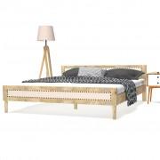 vidaXL Estrutura de cama 180x200 cm madeira de mangueira maciça